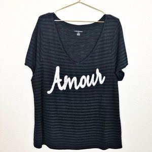 Lane Bryant Plus Size Amour Sequined Tee